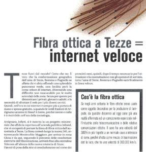 Articolo su fibra ottica alle Tezze su In Arzignano