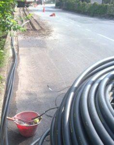 Minitrincea per dorsale fibra ottica a Tezze di Arzignano